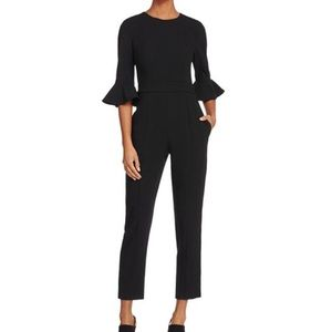 Black Halo Brooklyn Bell Sleeve Cropped Jumpsuit